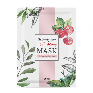 "BLACK TEA RASPBERRY ""TENCEL"" SHEET MASK"