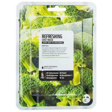 Hydratační textilní maska na obličej - Brokolice 25 ml