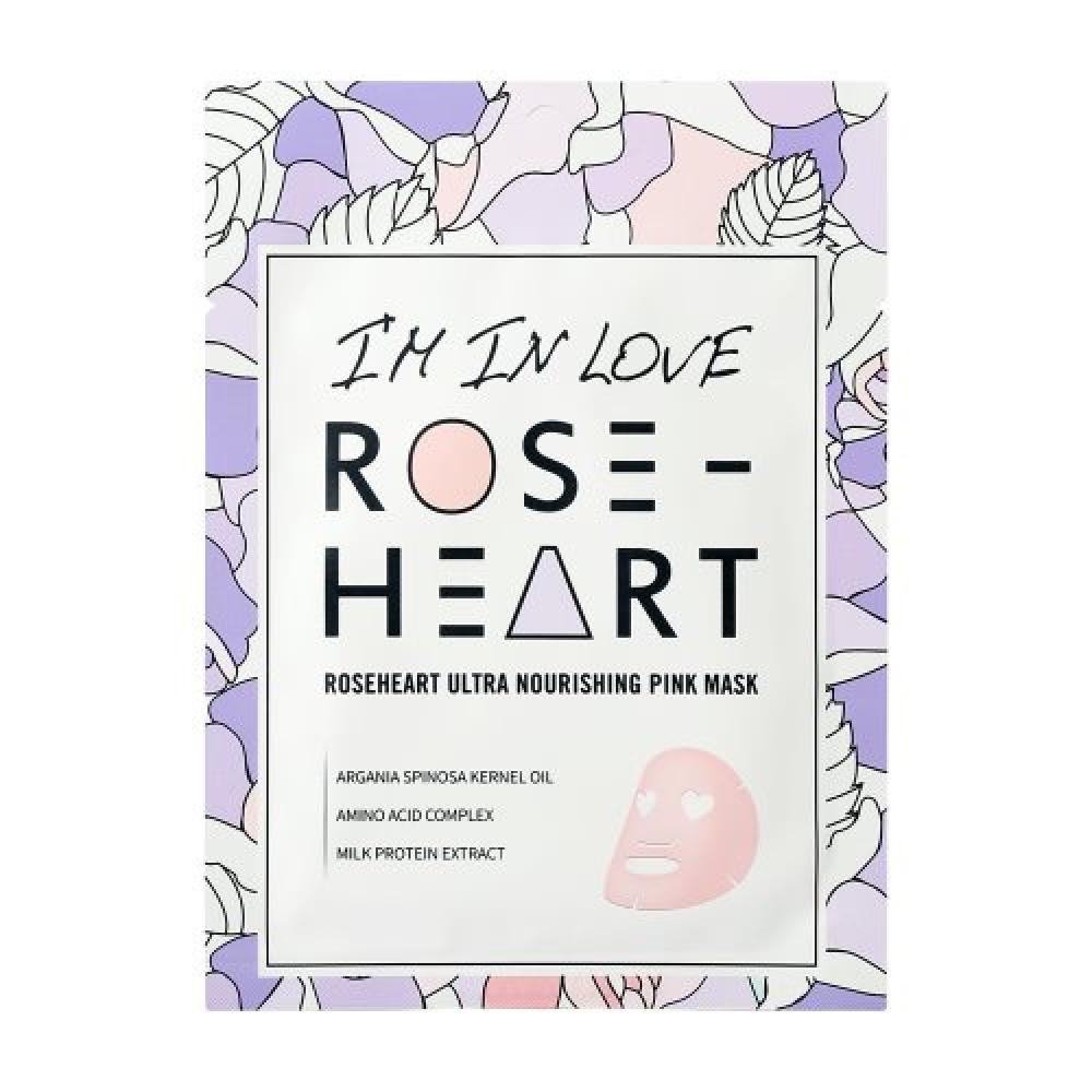 VYŽIVUJÍCÍ RŮŽOVÁ MASKA ROSE ROSE HEART 18 g