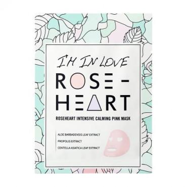 UKLIDŇUJÍCÍ RŮŽOVÁ MASKA ROSE HEART 18 g