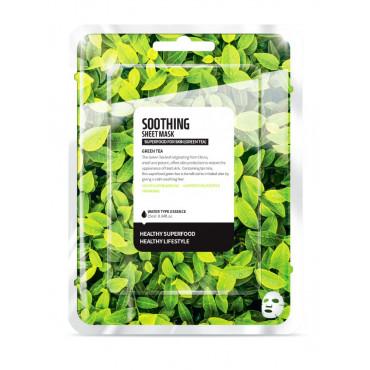 Hydratační textilní maska na obličej - Zelený čaj 25 ml